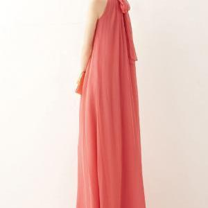 Pleated Sleeveless Chiffon Maxi Dre..